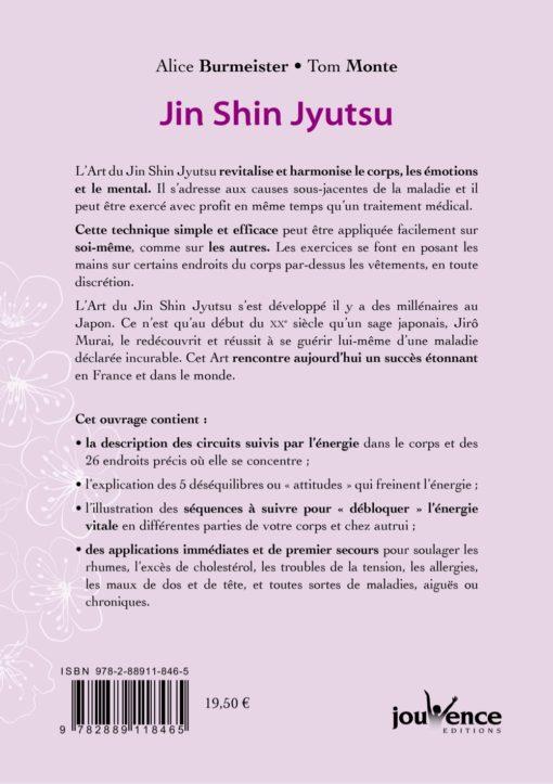 4eme de couverture livre Jin Shin Jyutsu